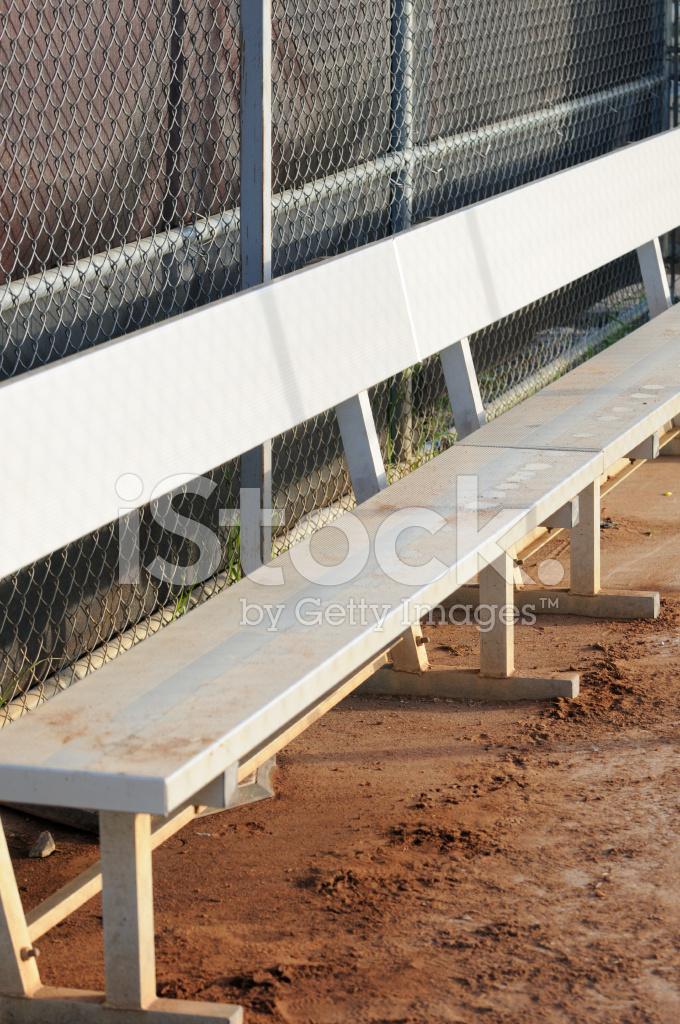Metal Dugout Bench Stock Photos