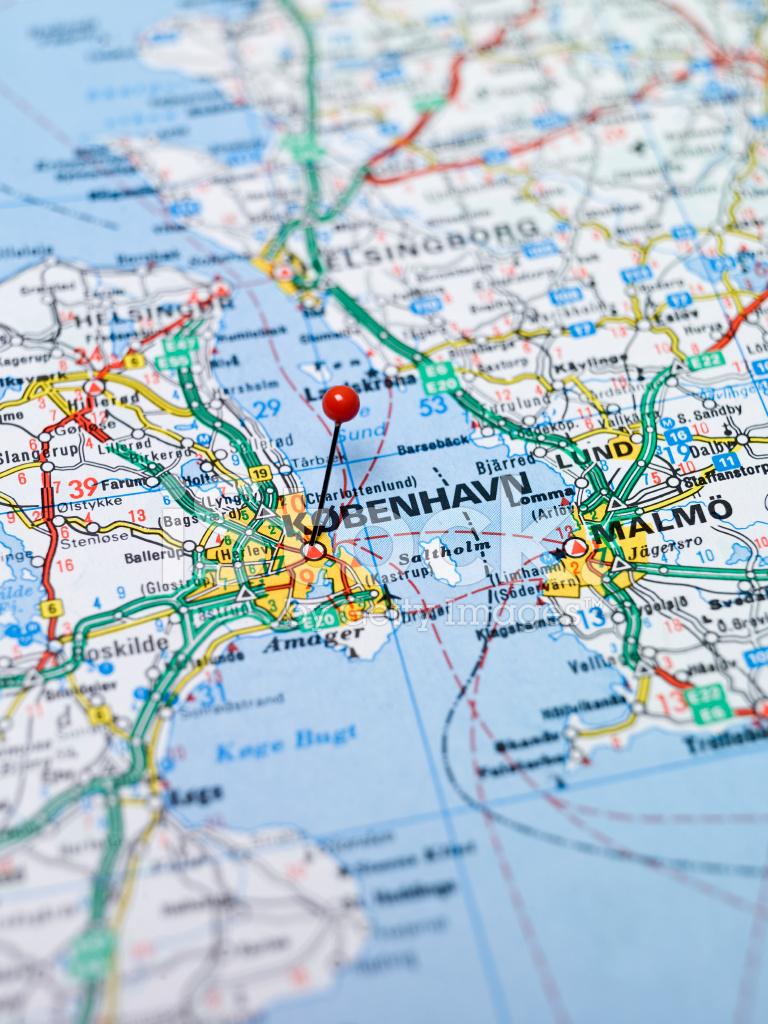 Mappa di copenaghen fotografie stock for Country plans com