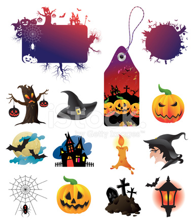 Colección DE Elementos DE Diseño DE Halloween Stock Vector ...
