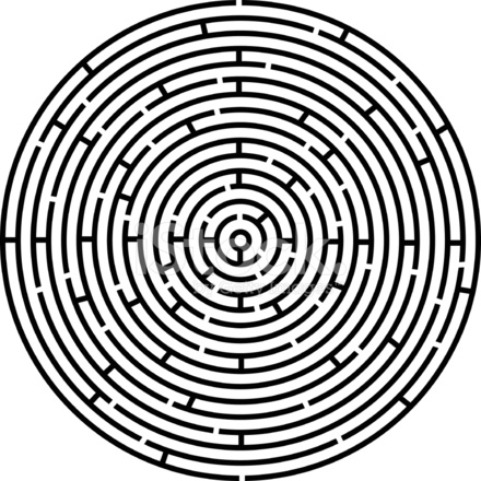 Circle Labyrinth Stock Vector Freeimages Com