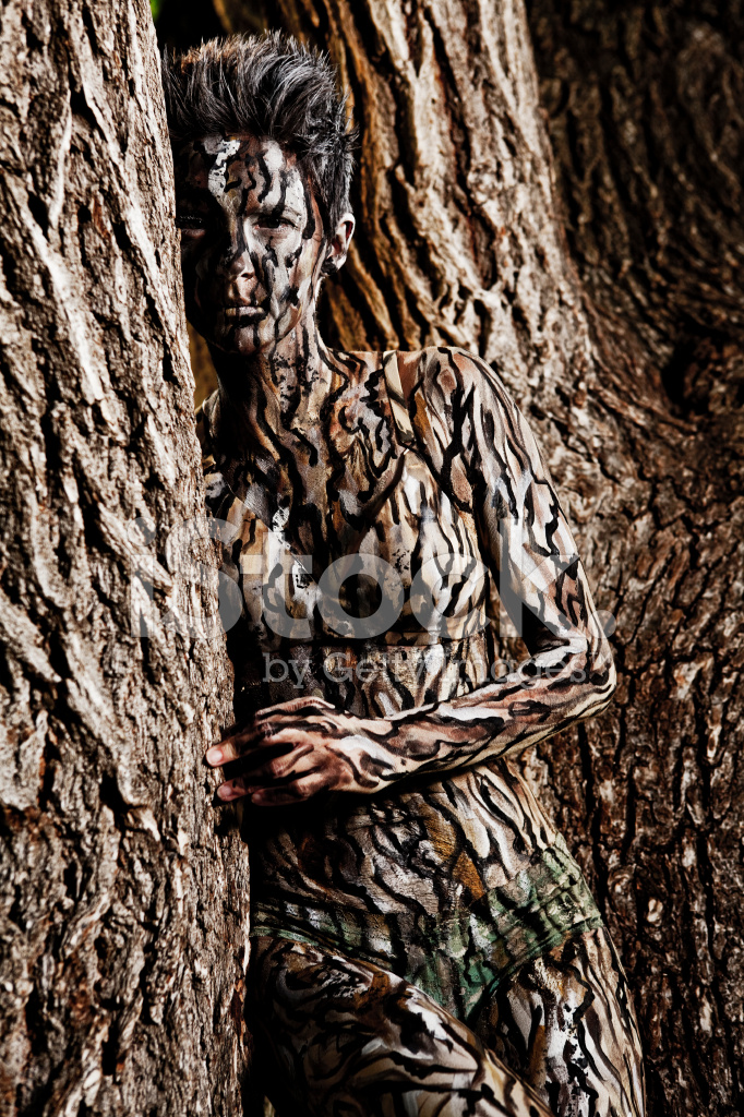 Body Painting Tree Camouflage Stock Photos Freeimages Com