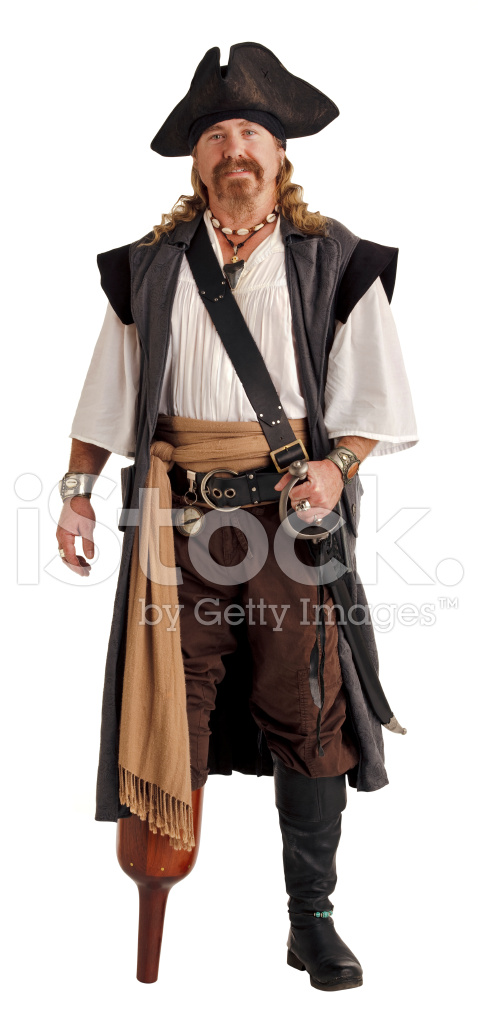 Pirate With A Wooden Isolated On Stock Photos Freeimagescom