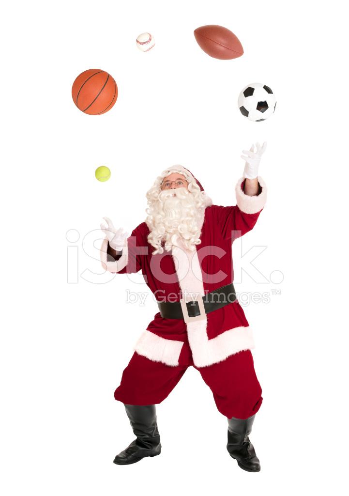 Premium Stock Photo of Santa Juggling Balls Sports Series