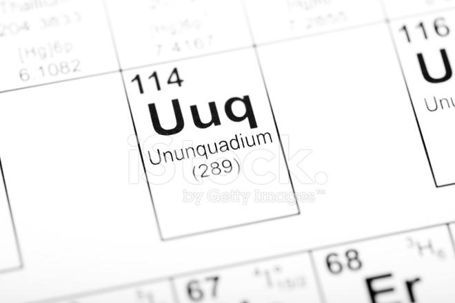 Periodic table element ununquadium stock photos freeimages periodic table element ununquadium urtaz Image collections
