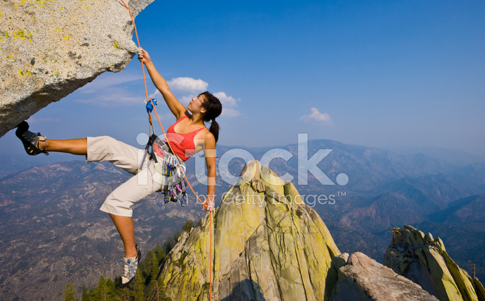 Female Rock Climber Stock Images - Image: 16686724