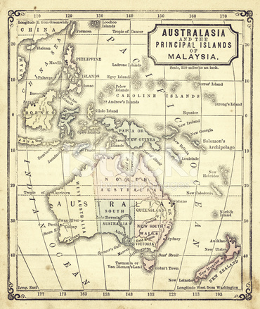 australien gammal karta Alte Karte Von Australien Australien Stockfotos   FreeImages.com australien gammal karta