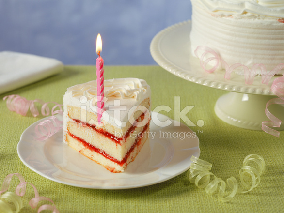 Birthday Cake Cut With Sharp Knife