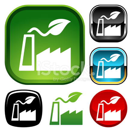 Green Industry Icon Stock Vector - FreeImages.com