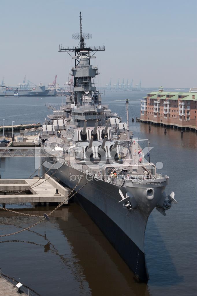 Battleship Uss Wisconsin Bb 64 Stock Photos Freeimages Com
