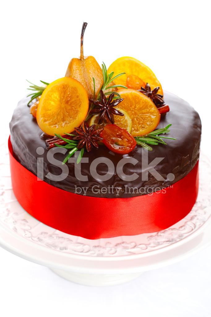 Beautiful Chocolate Cake With Glazed Fruit Stock Photos Freeimages Com