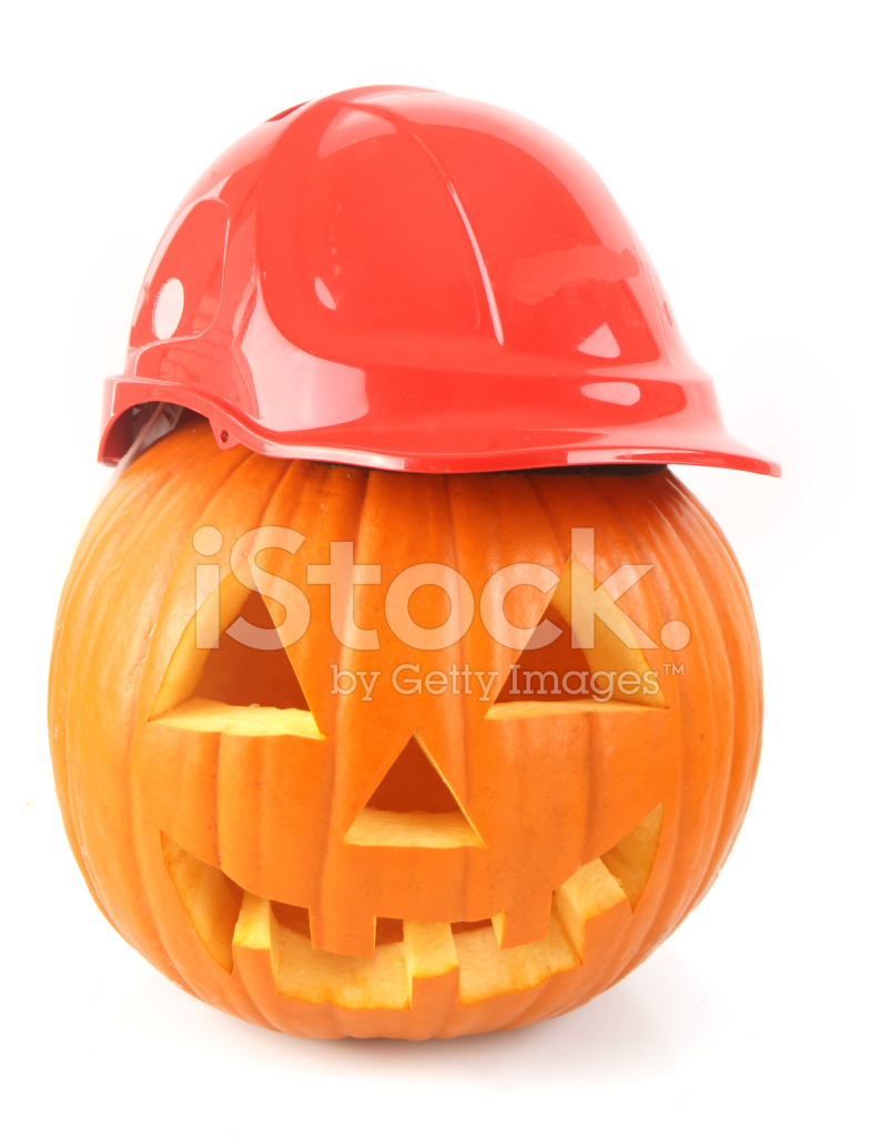 hard hat halloween jack o lantern stock photos freeimages com