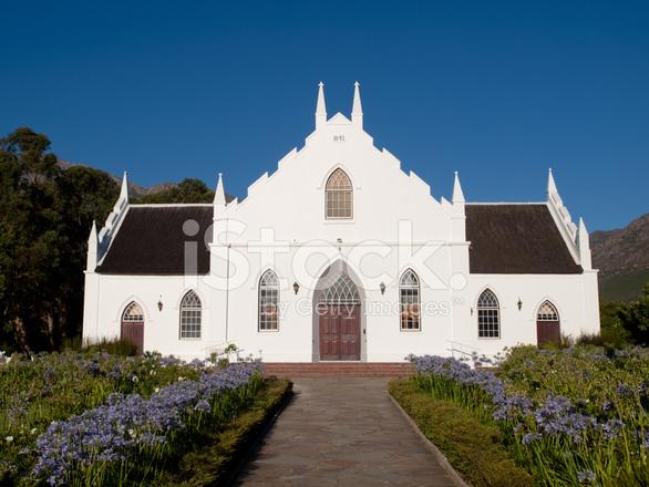 Cape Dutch Architecture Franschhoek South Africa Stock Photos