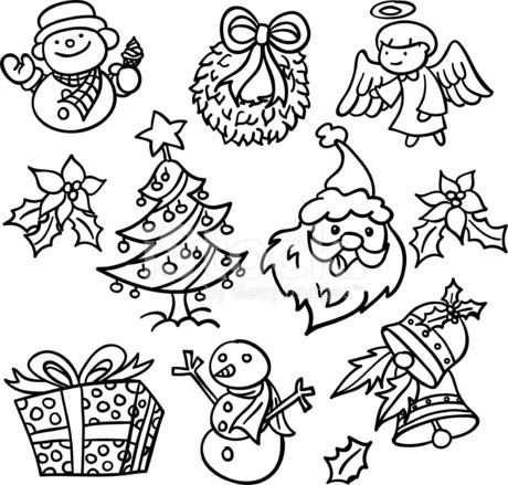 Immagini Natale In Bianco E Nero.Canto Elementi Natale In Bianco E Nero Stock Immagine Vettoriale Freeimages Com