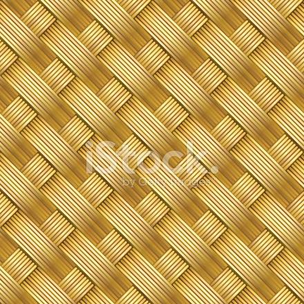 Seamless Diagonal Straw Mat Texture Stock Vector