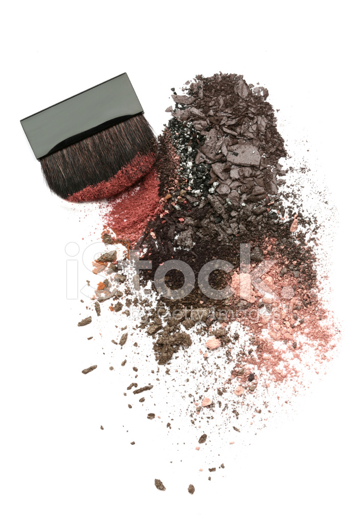 crushed eyeshadow mix and brush stock photos freeimages com