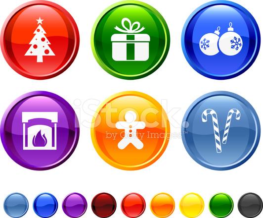 Immagini Natalizie Vettoriali.Set Di Icone Vettoriali Gratis Natale Decorazione Stock Vector