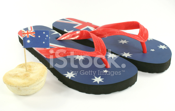 1445b176a3ec Aussie Thongs Australian Flag Stock Photos - FreeImages.com