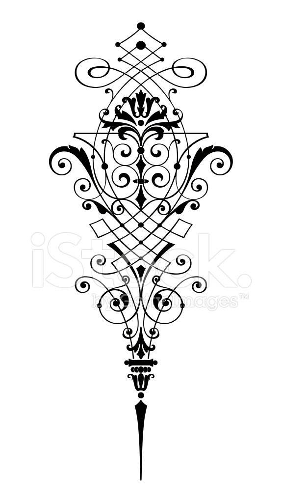 Decorative Scroll Design Stock Vector Freeimages Com