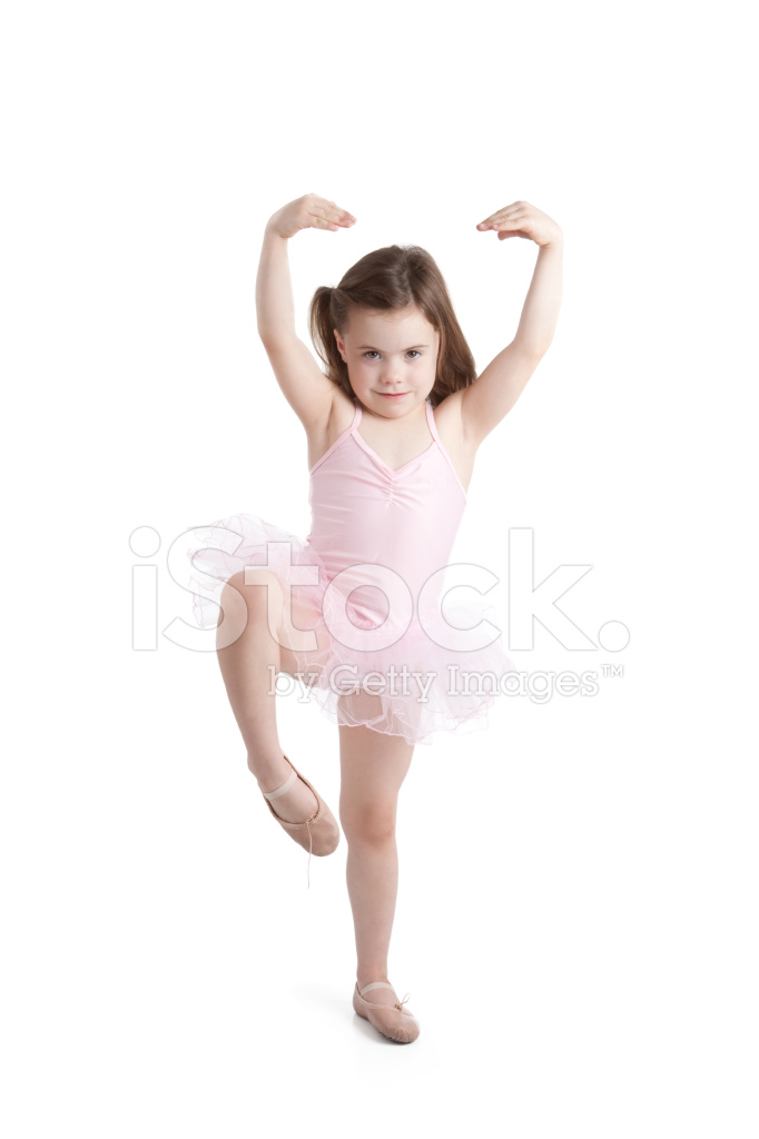 cute little ballerina girl dancing and wearing tutu stock photos