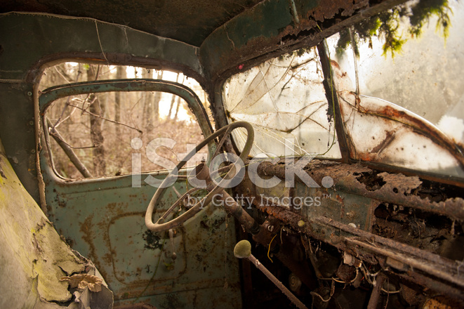 Oude Verlaten Vrachtwagen Interieur Stockfoto\'s - FreeImages.com