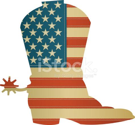 Botte Drapeau De Stock Vector Cowboy Américain lKcF1J