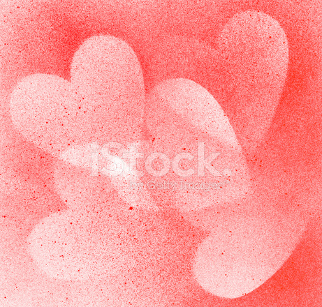 Paint brush heart shape texture paper stock vector for Texture paint images