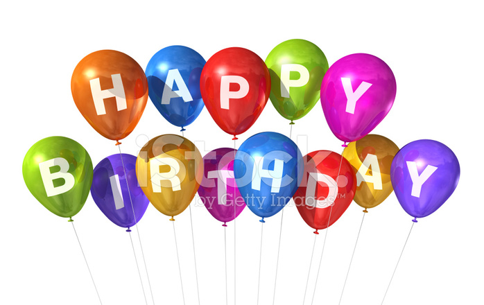 Happy Birthday Ballons Stockfotos