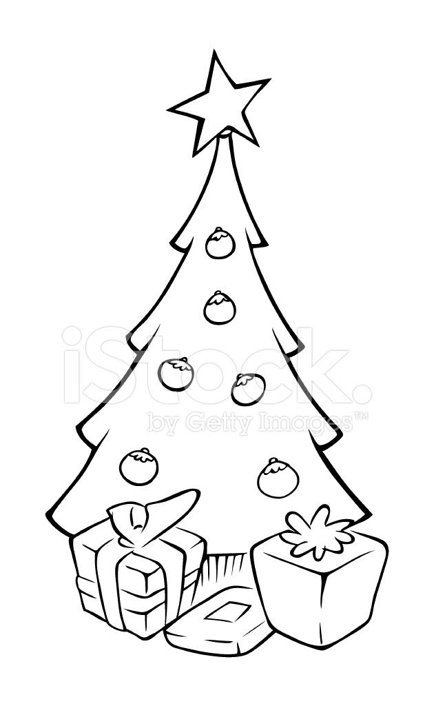 Christmas Tree Outline Stock Vector