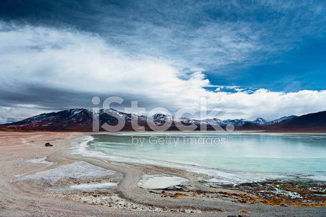 View of Laguna Blanca, Bolivian Altiplano Stock Photos ...  View of Laguna ...