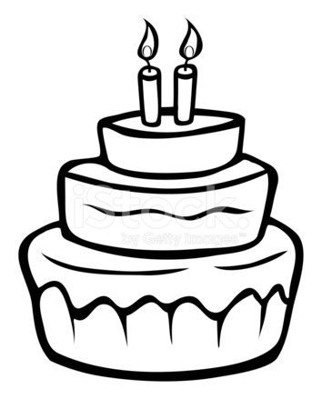 Birthday Cake Outline Stock Vector Freeimages Com