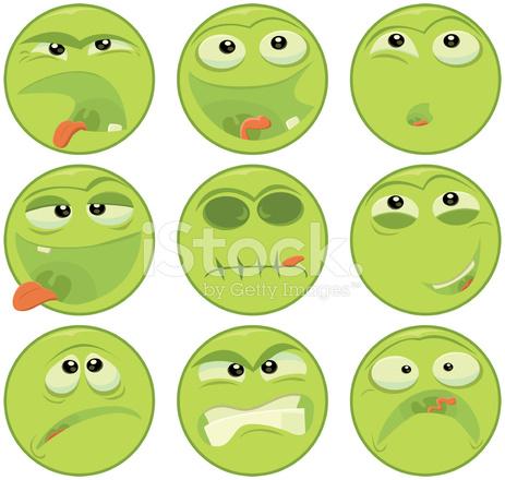 Emoticones Visage Vert Image Vectorielle Freeimages Com