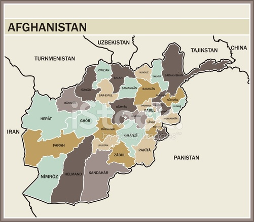 Map Of Afghanistan Stock Vector Freeimages Com