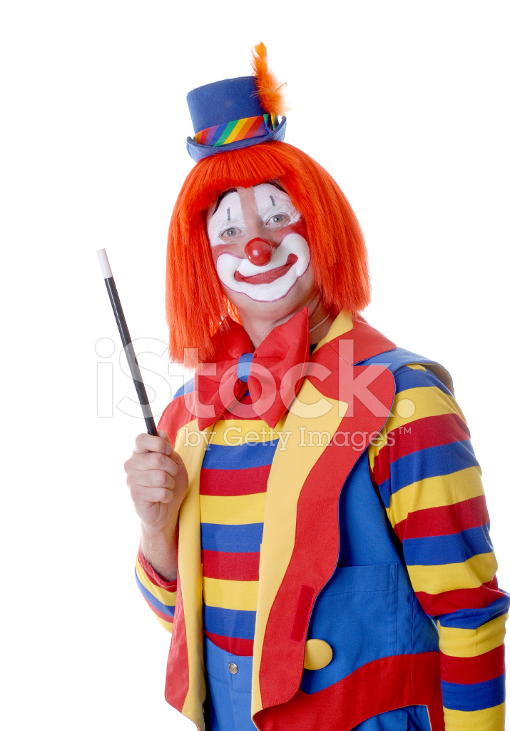 Happy Clown With Magic Wand stock photos - FreeImages.com  Happy Clown Pictures