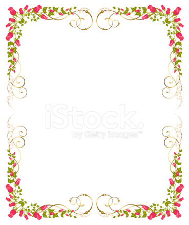 Vector Beautiful Frame from Red Roses Stock Vector - FreeImages.com