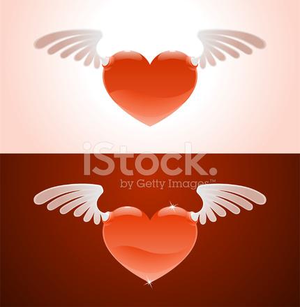 Corazón Con Alas Stock Vector Freeimagescom