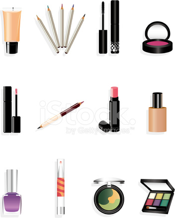 Cartoon Makeup Icon Stock Vector Freeimages Com