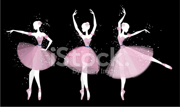 Silueta DE Bailarines DE Ballet Stock Vector