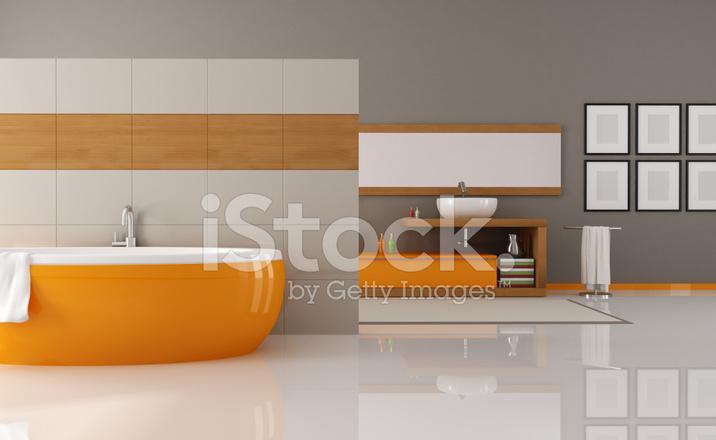 Bagno Beige E Marrone : Bagno arancio e marrone fotografie stock freeimages