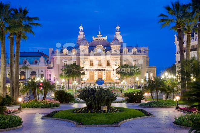 Monte carlo casino and the jardin exotique in monaco stock for Jardin exotique monaco