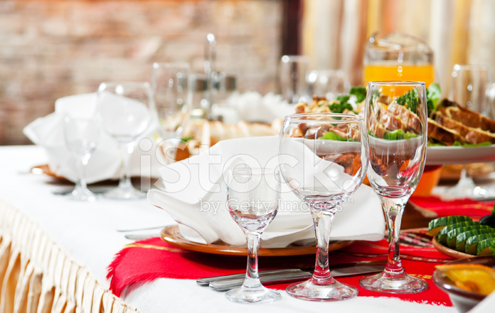 Gastronomie Essen Tisch Set Dekoration Stockfotos Freeimagescom