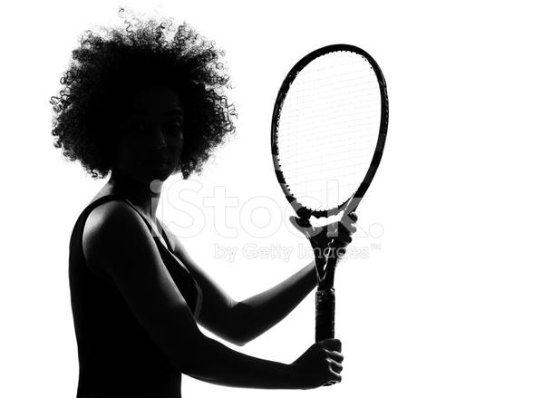 835eb6430d Premium Stock Photo of Silueta DE Mujer Africana Afro Americana Jugando AL  Tenis