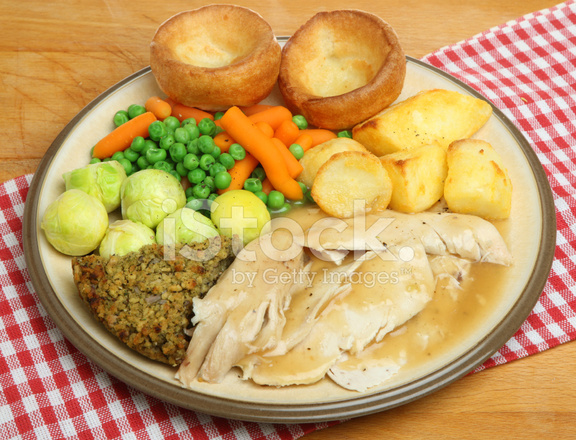 Sunday Roast Chicken Dinner Stock Photos Freeimages Com