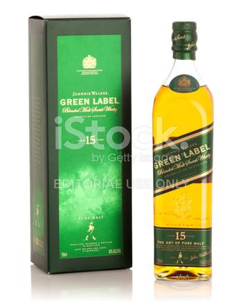 Johnnie Walker Green Label Scotch Whisky Con Caja Fotografas De