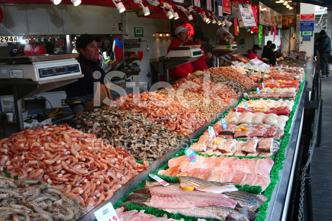 Washington dc maine street fish market stock photos for Maine fish market