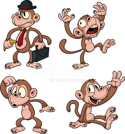cartoon monkeys stock vector freeimages com