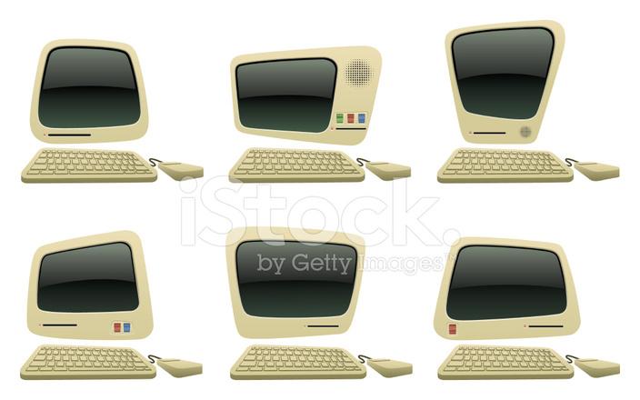 Iconos DE Computadora DE Dibujos Animados Retro fotografas de