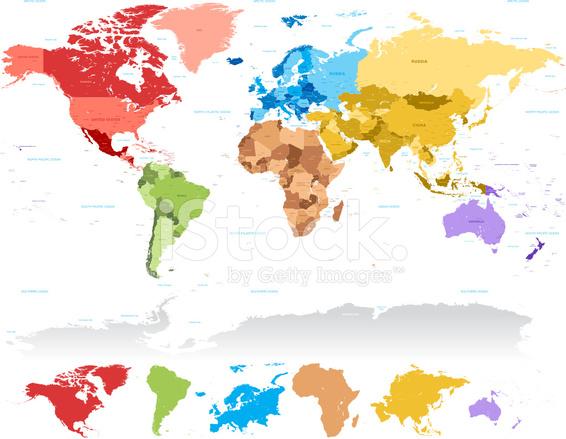 High detail world map set stock vector freeimages high detail world map set gumiabroncs Choice Image