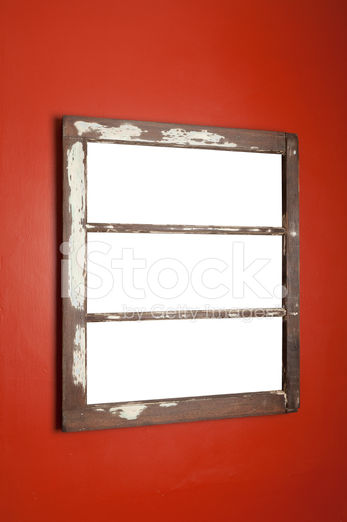 picture frame with clipping pathed windows stock photos
