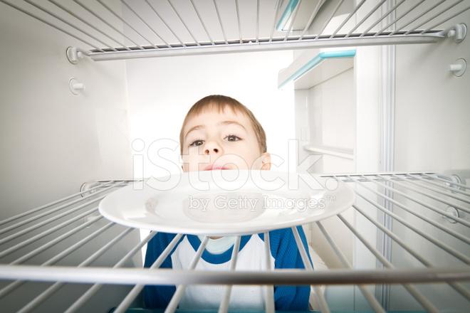 Boy And Empty Refrigerator Stock Photos Freeimages Com