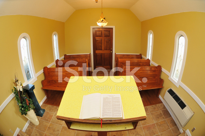 Small Church Sanctuary With Bible Stock Photos FreeImages Com